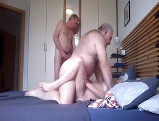 Horny German matures bisexual threesome