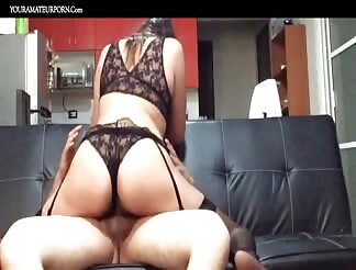 Lovely Latin wife caught on hidden cam