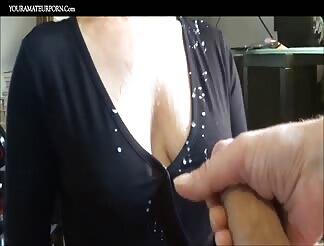 Big load of cum on her titties