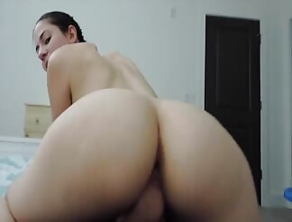 Brunette babe and her anal skills