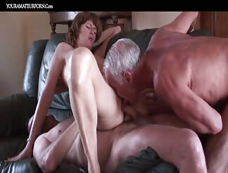 Hubby and wife fucking with a third guy
