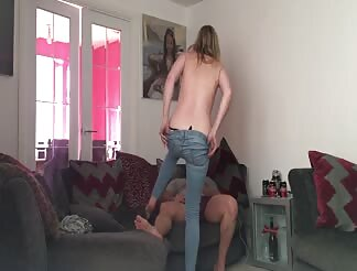 Secretly taping his sexy blonde girlfriend