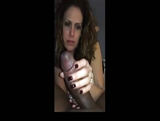 Cuckold wife slut sucking big black cock