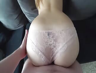 French blonde anal fucked in a garage
