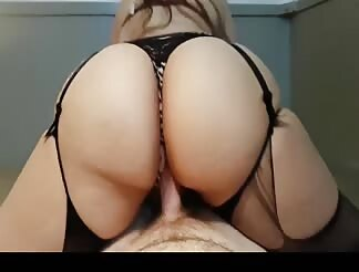 Super hot fat ass wife riding cock