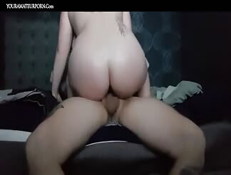 PAWG riding big dick