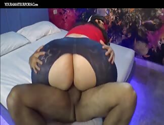 Huge Latin butt bouncing on a dick