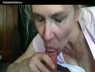 Enjoy this mom sucking dick till he explodes