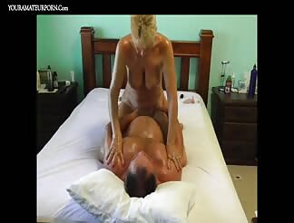 Granny Riding Cock To A Powerfull Orgasm