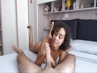 Super sexy girl from Italy eating the whole load
