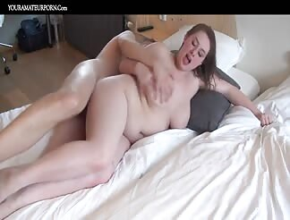 Chubby amateur girl fucked in both holes