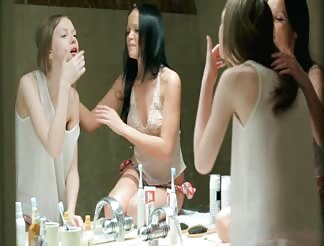 Lesbos shaving each others cunt in bathroom