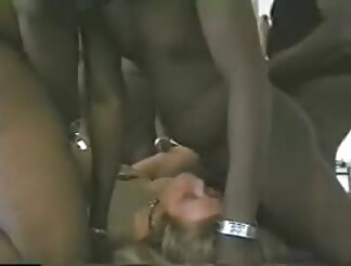 This yellow hairy amateur is group sex by 3 ebony men