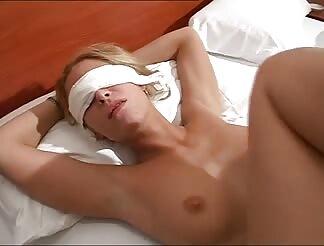 Blindfolded fucked hardcore