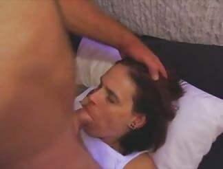 Wife gives head and takes facial