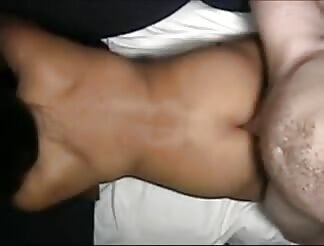 Toned light brown hairy lady screwed with doggy position