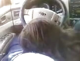 Screwing doll sucking while driving