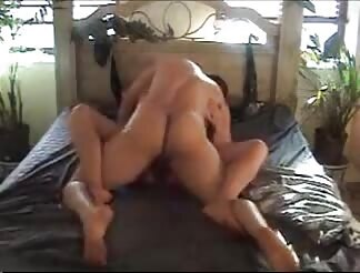 Kidnapped broad stuffed hard on bed