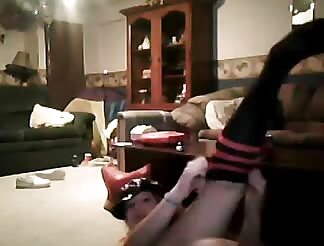 lovely light brown hairy gets banged on web cam