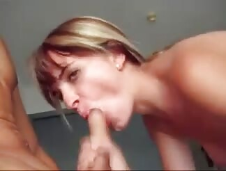 Tightest pussy takes a gigantic dong creampie and he licks it up