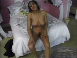 Curvy wife banged hard on bed