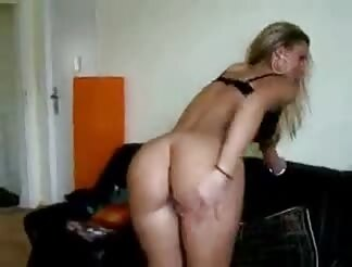 wild blond fingers her ass hole