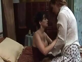 2 yummy passionate lesbos go at it hard