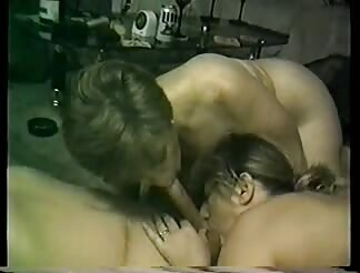 two sleazy ladies suck humongous schlong